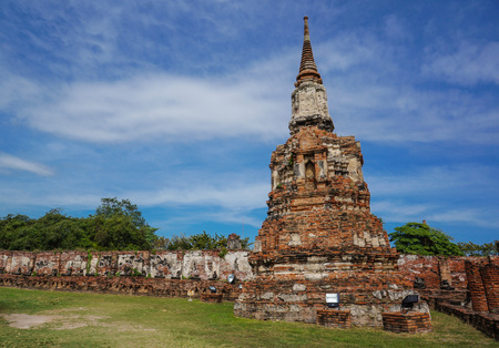 sacked: temple of ayutthaya in thailand, the former capital of siam destroyed when the city was sacked by the burmese Stock Photo