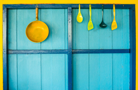 cookware: cookware hang on colorful wall
