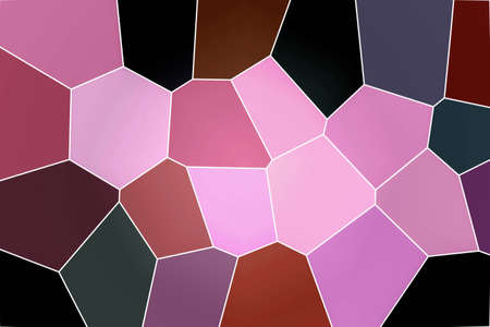 pink and black: abstract pink to black shade frame