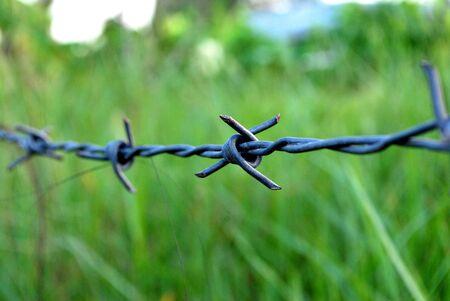 hinder: barbed wire stop go