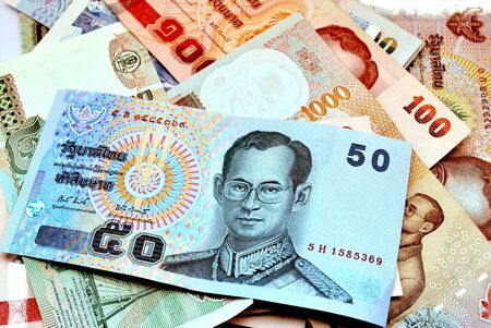 dinero falso: billete Thailandv
