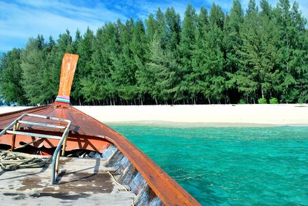 Go for a change of ari white sand island satun in Thailand Stock Photo