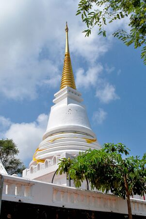 pagoda color white look clean the eye ,songkhla inThailand