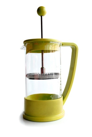 Background white  french press