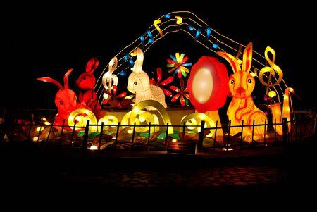 Songkhla Hat Yai Stadt Lampe Fest inThailand Lizenzfreie Bilder