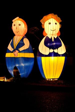 Songkhla Hat Yai City lamp festivity inThailand photo