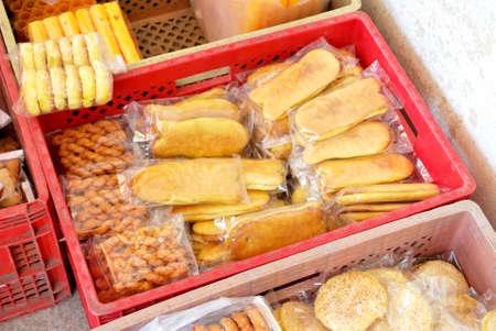 dispose: Snack dispose in red color box
