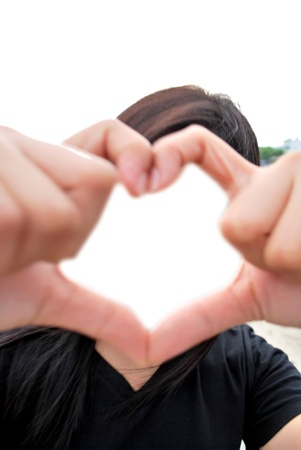 loves: Heart frame convey love Stock Photo