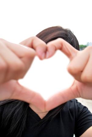 elysium: Heart frame convey love Stock Photo