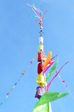 ordain: Auspicious ceremony pillar in Thailand Stock Photo