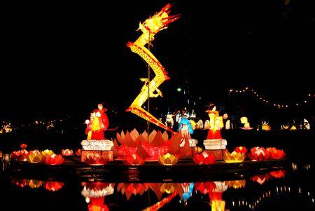 Songkhla Hat Yai Stadt Lampe Fest in Thailand