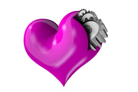 love haul: Heart, not machines Stock Photo