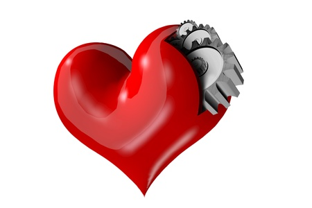 Heart, not machines Stock Photo - 15218728