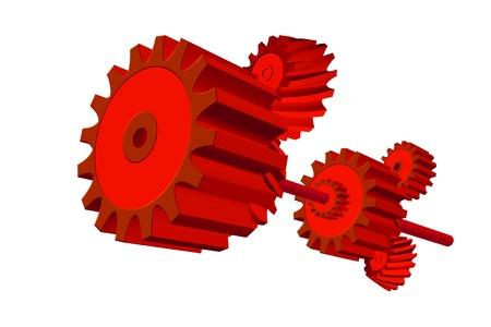 idler: Gear 3D Stock Photo