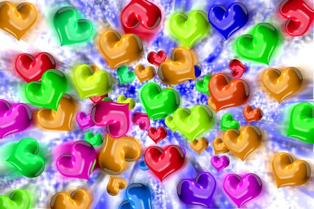 love haul: Heart dispersion Stock Photo
