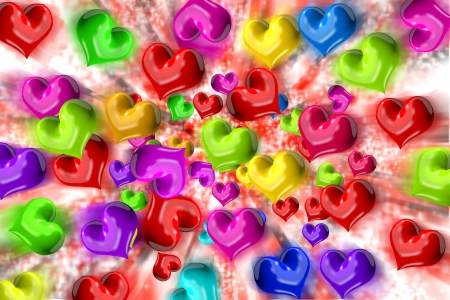 Heart dispersion Stock Photo - 15236559