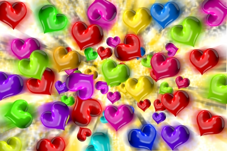 firstlove: Heart dispersion Stock Photo