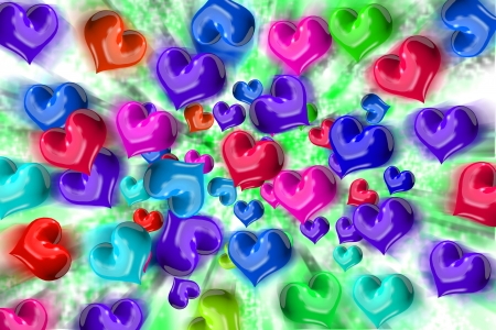 concomitant: Heart dispersion Stock Photo