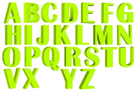 d i y: Fonts 3D Stock Photo