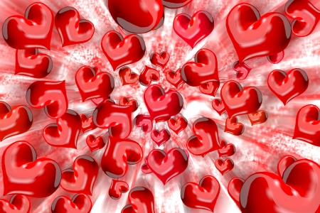 concomitant: Spread the heart Stock Photo