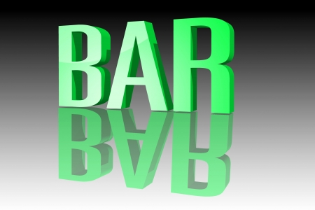 dram: Bar 3D Stock Photo