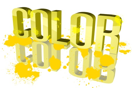 be soaked: Color distribution Yellow
