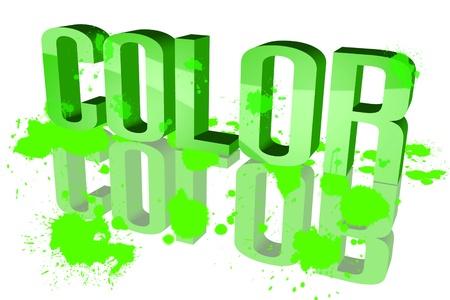 sluttish: Color distribution Green Stock Photo