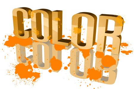 backstairs: Color distribution Orange Stock Photo