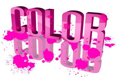 Color distribution Pink photo