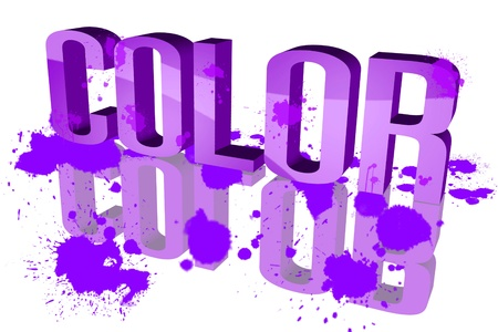 be soaked: Color distribution Purple
