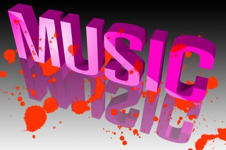 paleta de caramelo: Colores de la música Foto de archivo