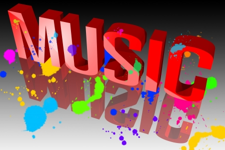 Colors of music Stock Photo - 15571873