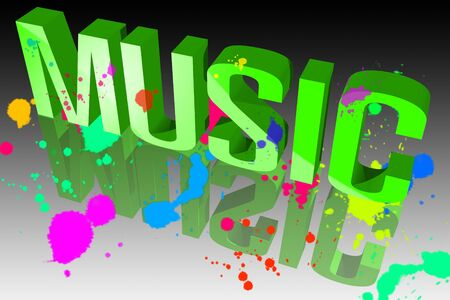 Colors of music Stock Photo - 15571884