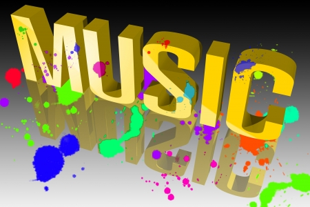 Colors of music Stock Photo - 15571886
