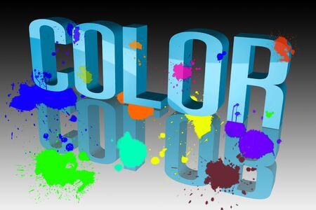 Colors sixth sloppy Stock Photo - 15578426
