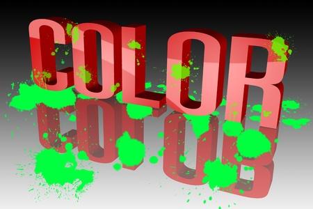 paleta de caramelo: Manchas de color
