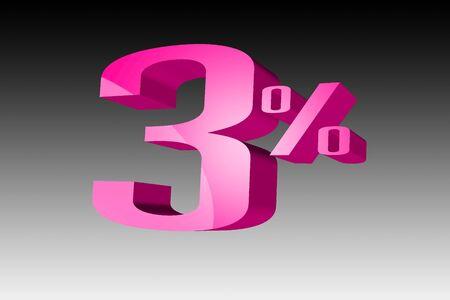 vend: Discount 3 percent  3D Stock Photo