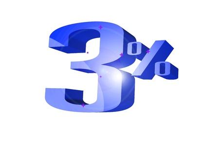 Rabatt 3 Prozent 3D