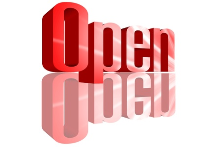 3D Open with a reflection founts Stock Photo - 16155568