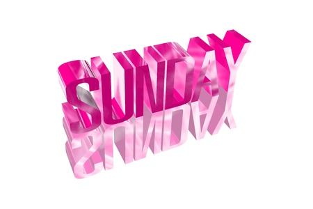 3D sunday with a reflection founts Stock Photo - 16155611