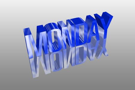 3D Monday with a reflection founts Stock Photo - 16155660
