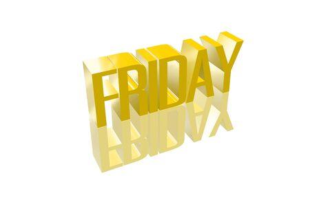 3D Freitag mit einer Reflexion founts Lizenzfreie Bilder