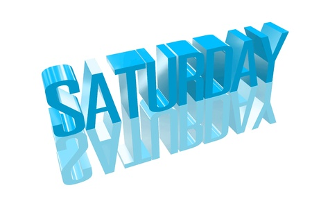 appointment book: 3D saturday with a reflection founts Stock Photo