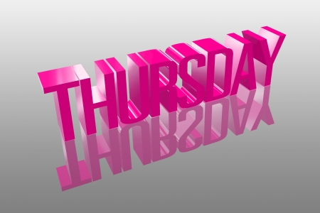 appointment book: 3D thursday with a reflection founts