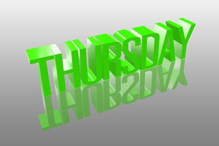 thursday: 3D thursday with a reflection founts