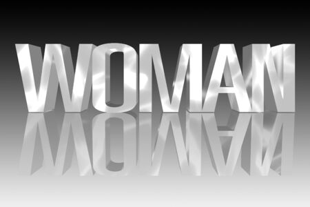 3D Frau mit einer Reflexion founts