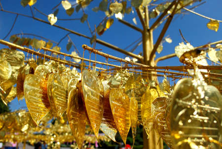 presumption: Gold Bodhi leaf