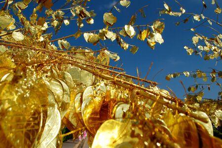 Gold Bodhi leaf