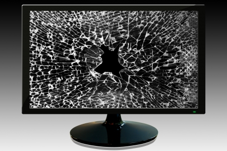 Damaged screen Stock Photo - 17174623