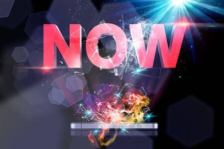 Now 3D Stock Photo - 17254205